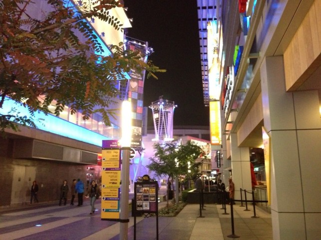 LA LIVE, an entertainment complex in downtown Los Angeles. Although I came to LA many times, this was the first time I visited this complex and dined here. Nov, 2012.